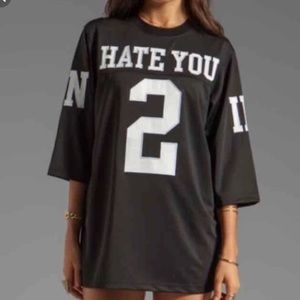 UNIF Hate You 2 Jersey Oversized M GUC Shirt Top